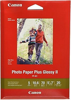 Canon PP-301 5x7 20SH Photo Paper Plus Glossy 20 Sheets