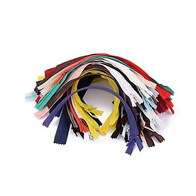 OULII 50pcs 7-inch Nylon Invisible Zippers Tailor Sewer Craft for Sewing (Ran...
