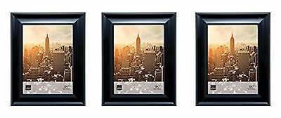 Kiera Grace Reagan Picture Frame, 5 by 7 Inch, Black, Set of 3