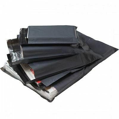 100 Grey Plastic Bags Mailing Postal Strong HIGH QUALITY 32X45cm CLEARANCE SALE