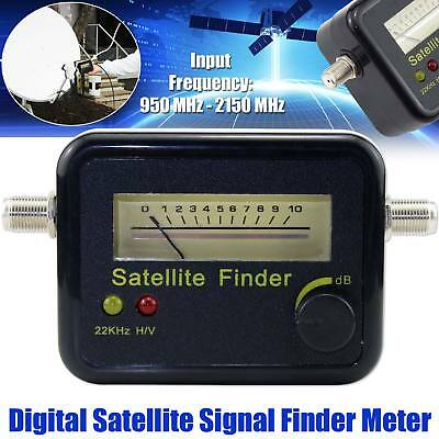 New Analog Satellite Signal Finder Meter With Accuracy for Sat Dish DIRECTV UK