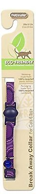 Petmate 320111 8-12-Inch Eco Friendly Breakaway Circle Cat Collar (Purple)