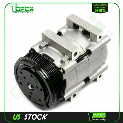 NEW A/C Compressor w/ Clutch 58120 for 90-98 Ford 3.8L 4.9L 5.0L 5.8L 7.3L 7.5L