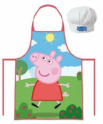 Peppa Pig Childrens Cooking Chefs Hat and Apron Set By BestTrend