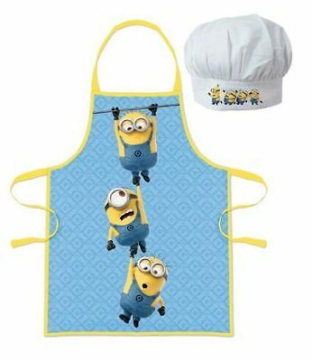 Despicable Me Minions Childrens Cooking Chefs Hat and Apron Set By BestTrend
