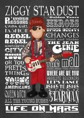 Inspired by David Bowie Rebel Rebel Greeting Birthday Card