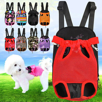 Puppy Carrier Front Backpack Chest Bag Pet Legs Out For Traveling Hiking Camping