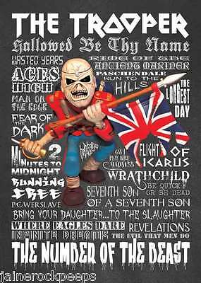 Inspired by Iron Maiden Trooper Eddie Greeting Birthday Card