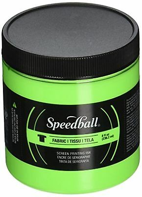 Speedball Art Products Fluorescent Fabric Screen Printing Ink, 8 oz, Lime Green