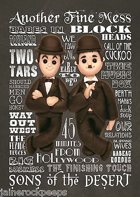 Inspired by Stan Laurel & Oliver Hardy Greeting Birthday Card