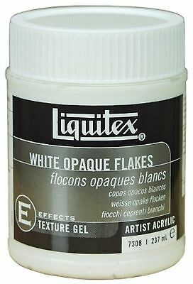 Liquitex White Opaque Flakes Effects Medium, 8-Ounce