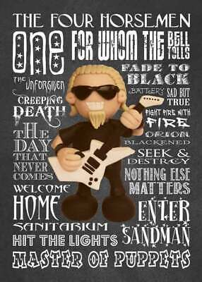 Inspired by Metallica James Hetfield Greeting Birthday Card