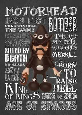 Inspired by Motorhead Lemmy Greeting Birthday Card