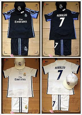 2017 Real Maderid #7 Ronaldo Home/away Color Set With Caps (Express Post)