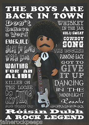Inspired by Thin Lizzy Phil Lynott Greeting Birthday Card