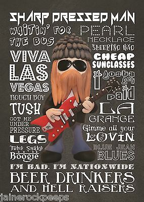Inspired by ZZ Top Billy Gibbons Greeting Birthday Card