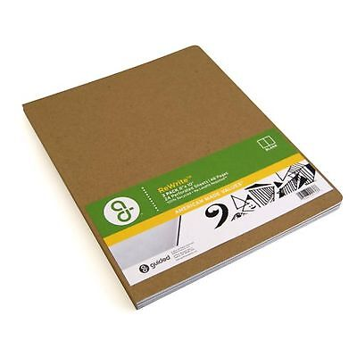 Guided Products ReWrite 8 x 10 Inches Blank Recycled Notebook 48 Pages 3 Pack...