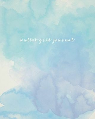 Bullet Grid Journal: Watercolor 150 Dot Grid Pages 8x10 Professionally Designed