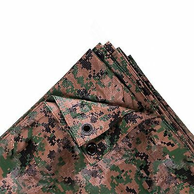 Stansport Digital Woodland Camo Tarp, 8 X 10-Feet