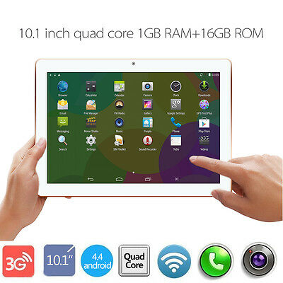 10.1'' Inch TABLET PC QUAD CORE ANDROID Dual SIM/Cam 3G Phone Call WIFI GPS 16GB