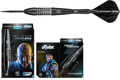 Darts TARGET Phil Taylor Gen4 Black Steeldarts - Dart Set