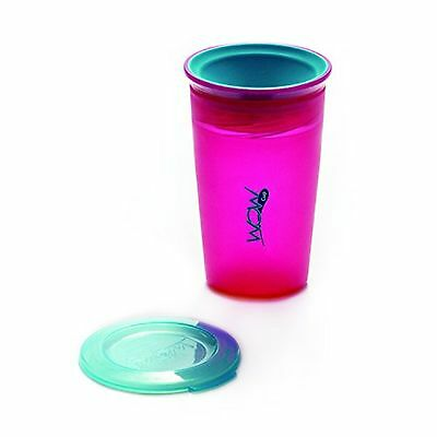 Wow Cup Juicy 360 Spill-Free Cup with Freshness Lid Included, Pink, 9oz