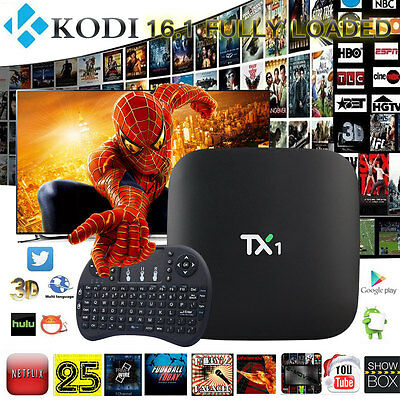 2017 NEW TX1 16.1 FULLY LOAD SMART Android TV BOX Media Player FILMS + AIR MOUSE