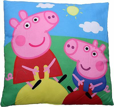 Peppa Pig and George Bouncing in the Sun Childrens Filled Cushion By BestTrend