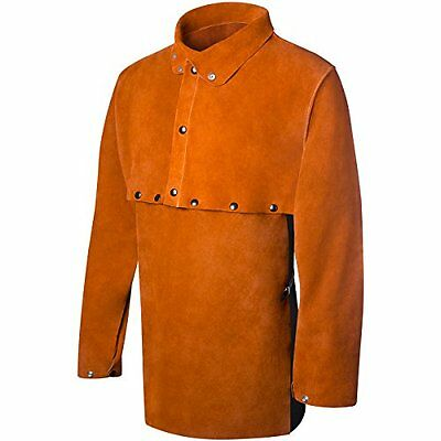 New Steiner 1213-L Cape Sleeve With 19-Inch Bib, Domestic Brown Split Cowhide,