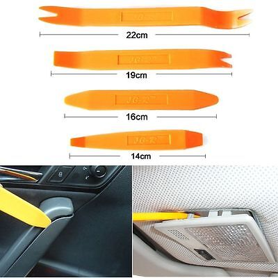 4 Pry Tool Kit Set Number Plate Boot Footwell Interior Light Dome Panel Car Trim