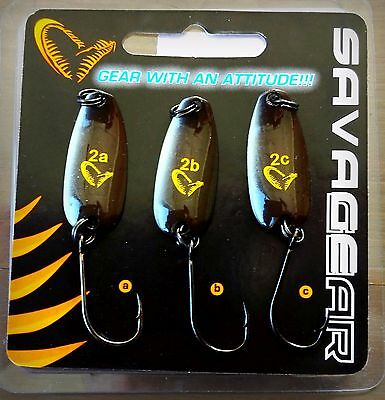 SAVAGE GEAR NAILS spoons 1.25'' lenght, Brown & Black colour - 3 pieces in pack!