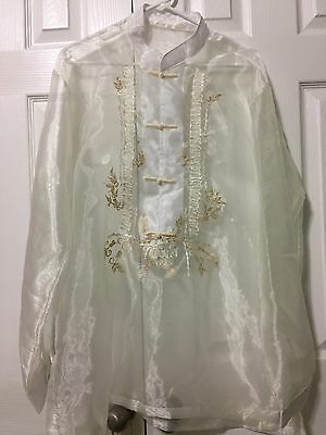 Filipino Barong Tagalog Embroidery. Size - 2XL.New Without Tag