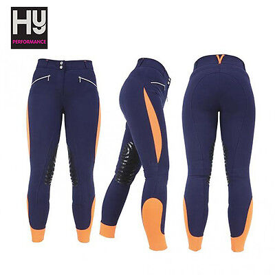 HyPERFORMANCE Sports Active Ladies Breeches (Navy/Orange) **RRP £89**