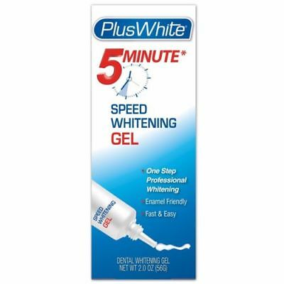 PLUS WHITE 5 MINUTE SPEED WHITENING TEETH WHITENING GEL 2oz TUBE FULL SIZE