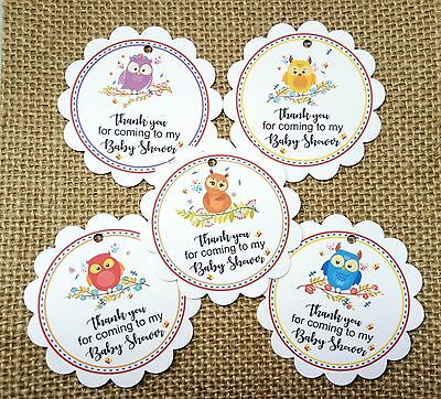 15x Personalised Baby Shower Christening Birthday Party Favours Gift Tags