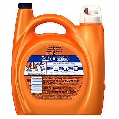 Tide Plus Downy April Fresh Scent HE Turbo Clean Liquid Laundry Detergent 4.0...