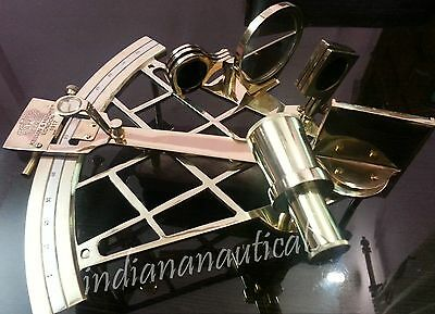 """10"""" Nautical Brass Sextant Maritime Working Sextant Vintage Royal Gift Item."""