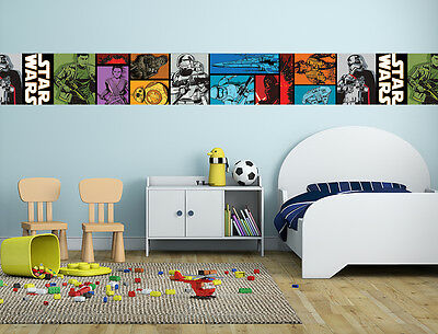 New Star Wars Wallpaper Border Self Adhesive Kids Boy Girl Bedroom 31