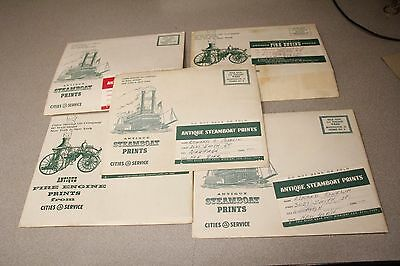 Cities Service Oil Company Antique Locomotive Railroad Advertising Print Set