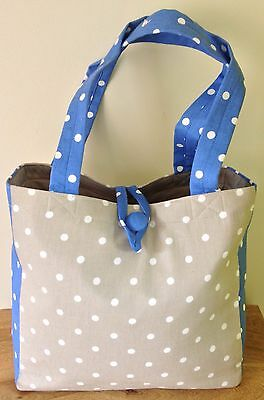 TOTE BAG Great for knitting & crafts, beach, shopping 'CORNFLOWER' DESIGN