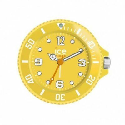 Ice-Clock Travel Alarm Clock With Backlight & Snooze - Yellow