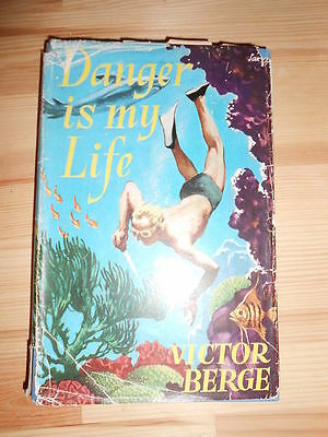 Danger Scuba Diving HB 1st Berge Rare Dive Book V. RARE