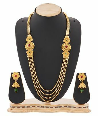 YouBella Bollywood Ethnic Gold Plated Traditional Indian Temple Necklace Set