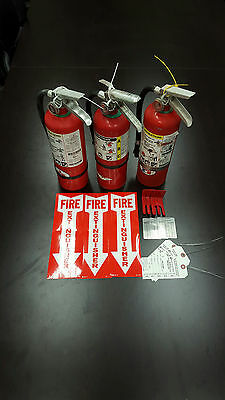 Fire Extinguisher 5lb ABC Includes Certification Tag (3) SCRATCH & DENT