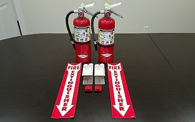Fire Extinguisher 5lb ABC Includes Certification Tag LOT of 2 NICE