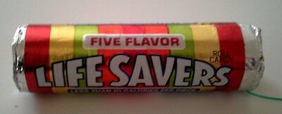 Vintage FIVE FLAVOR LIFE SAVERS Candy Roll Unopened 1990's