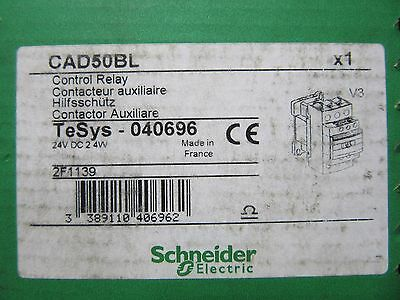 Schneider CAD50BL Control Relay 24VDC Coil NEW!! in Factory Sealed Box Free Ship