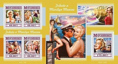 Z08 Imperforated MOZ15330ab MOZAMBIQUE 2015 Marilyn Monroe MNH Set