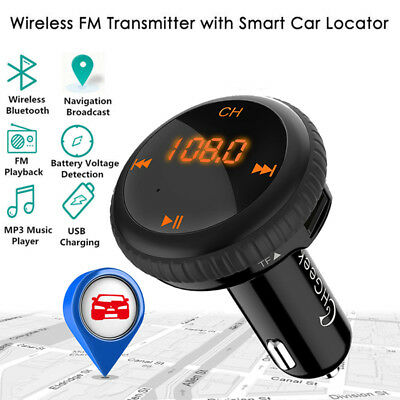 Bluetooth 4.2 FM Transmitter Wireless MP3 TF Radio Adapter USB Charger Car Kit