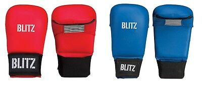 Blitz Karate PU Elite Sparring Mitts Without Thumb Martial Arts